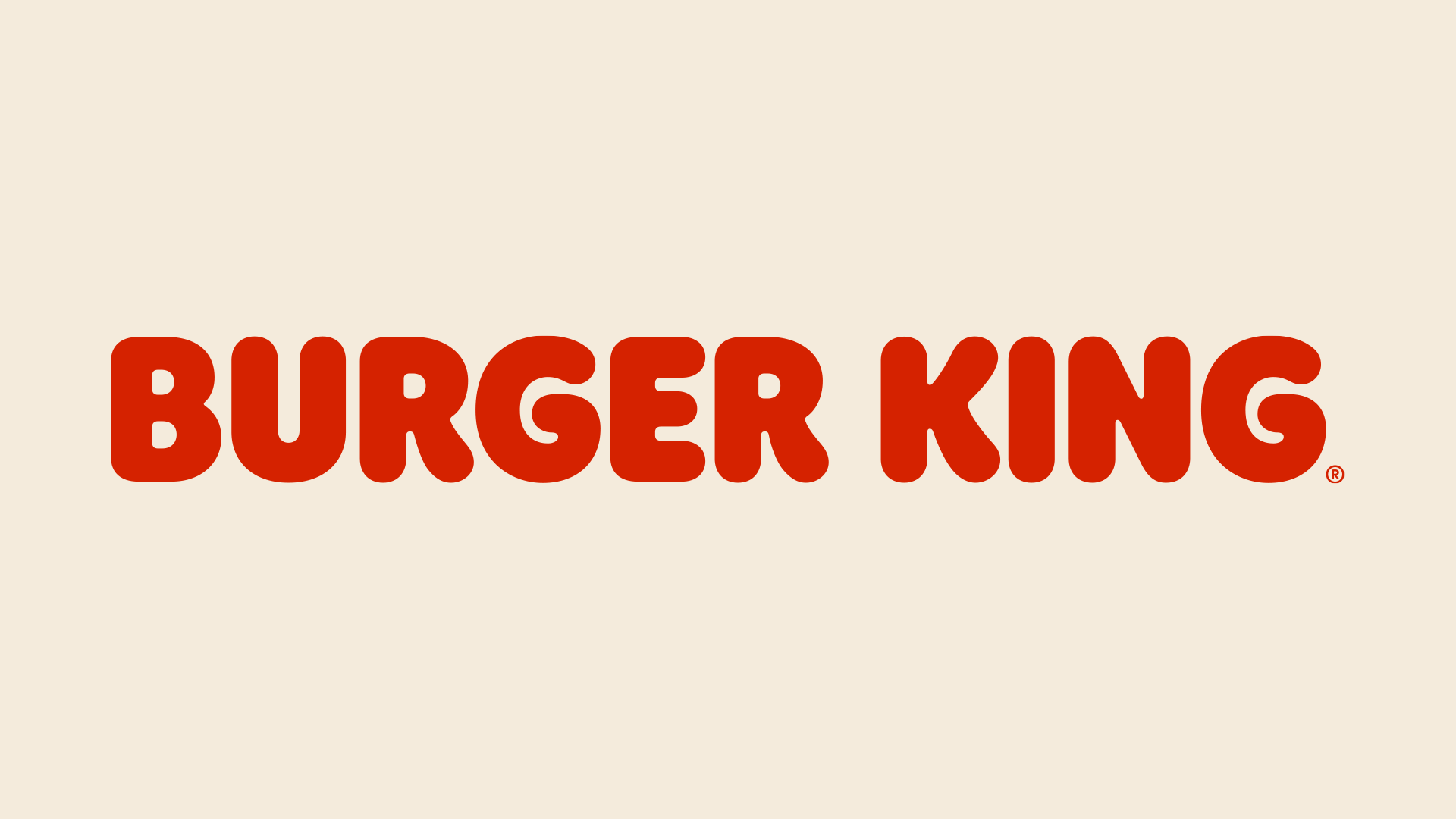 "The words ""Burger King"" as a logotype"